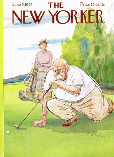 Senior Painting - New Yorker June 5th, 1965 by Perry Barlow