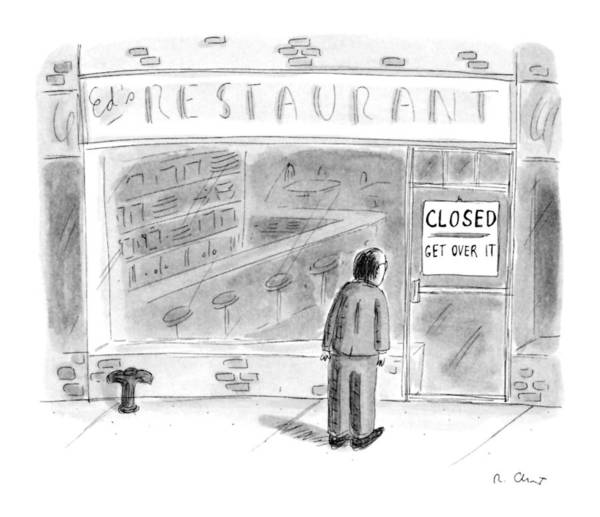 Failure Drawing - New Yorker June 5th, 1995 by Roz Chast