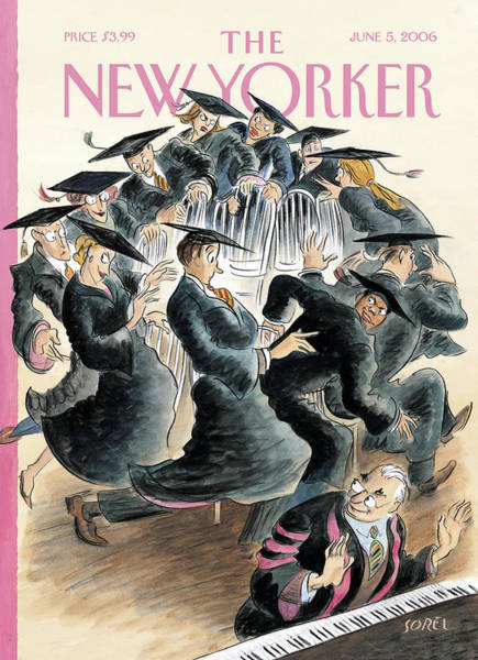 Graduation Painting - New Yorker June 5th, 2006 by Edward Sorel