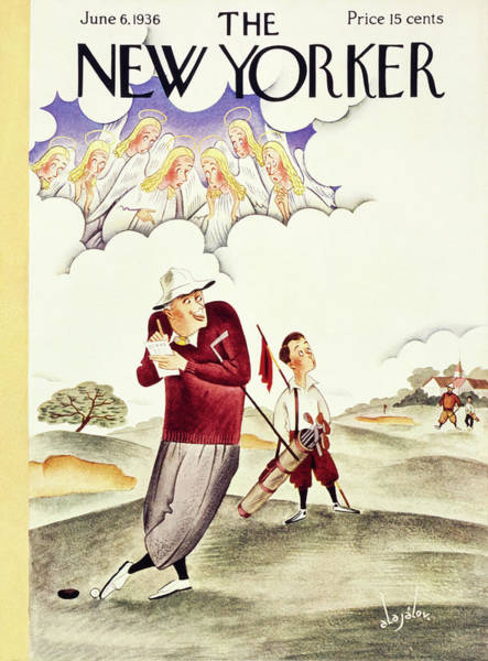 Nobody Painting - New Yorker June 6 1936 by Constantin Alajalov