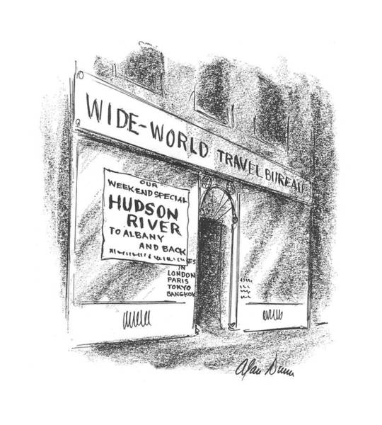 Hudson Drawing - New Yorker June 6th, 1942 by Alan Dunn