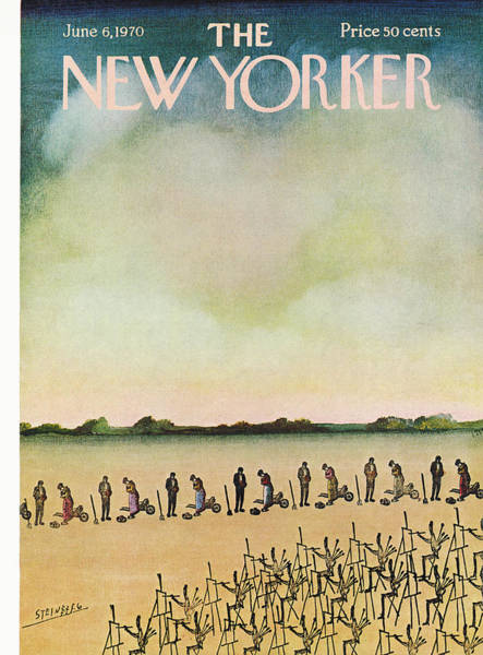 Artwork Painting - New Yorker June 6th, 1970 by Saul Steinberg