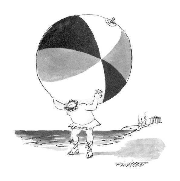 Atlas Drawing - New Yorker June 6th, 1988 by Mischa Richter