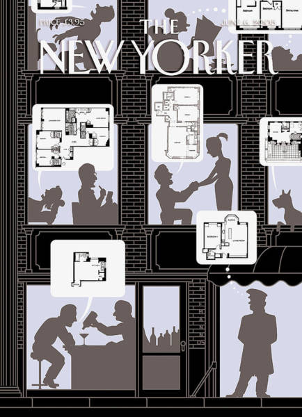 Architecture Painting - New Yorker June 6th, 2005 by Christoph Niemann