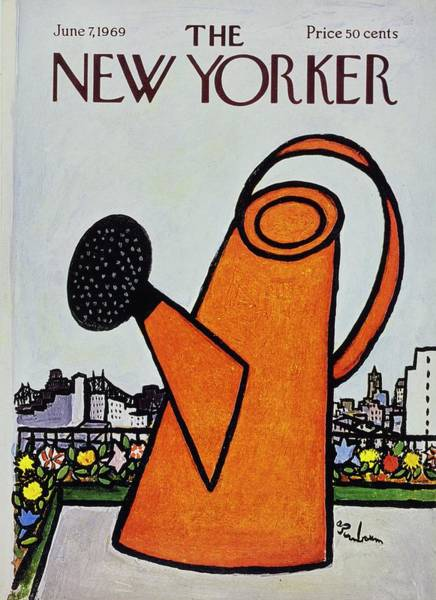 Roof Painting - New Yorker June 7th 1969 by Aaron Birnbaum