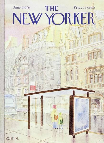 June 7th Painting - New Yorker June 7th 1976 by Charles E Martin