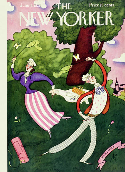 Picnic Painting - New Yorker June 8 1929 by Julian De Miskey