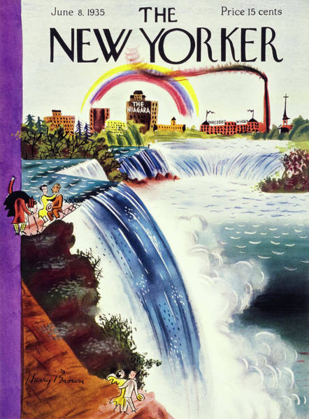 North America Painting - New Yorker June 8 1935 by Harry Brown