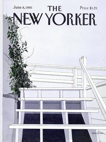 Architecture Painting - New Yorker June 8th, 1981 by Gretchen Dow Simpson