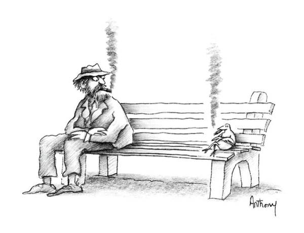 No Smoking Wall Art - Drawing - New Yorker June 8th, 1987 by Anthony Taber