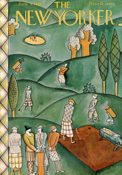 Golf Painting - New Yorker June 9th, 1928 by Ilonka Karasz