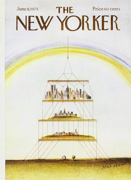 Town Painting - New Yorker June 9th 1975 by Paul Degen
