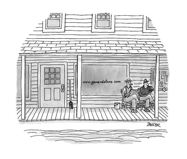 Internet Drawing - New Yorker June 9th, 1997 by Jack Ziegler