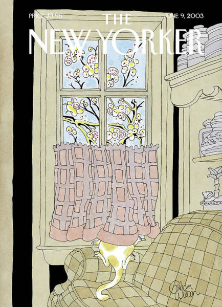 Cat Painting - New Yorker June 9th, 2003 by Gahan Wilson