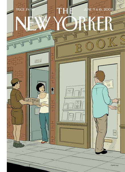Book Painting - New Yorker June 9th, 2008 by Adrian Tomine