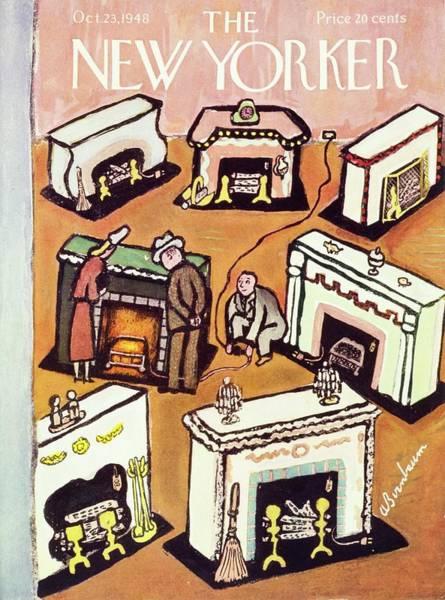 Adult Painting - New Yorker October 23, 1948 by Aaron Birnbaum