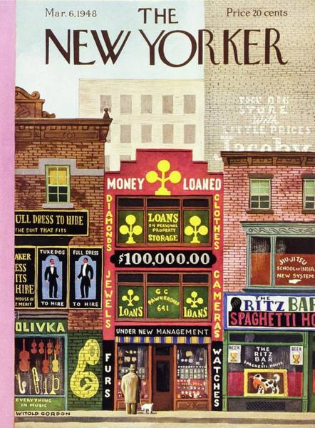 City Painting - New Yorker Magazine Cover Of A Pawn Shop by Witold Gordon