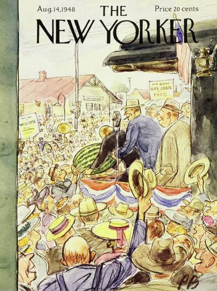 Wall Art - Painting - New Yorker August 14, 1948 by Perry Barlow