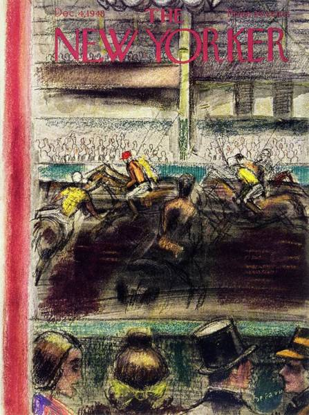 Polo Painting - New Yorker Magazine Cover Of A Polo Match by Victor De Pauw