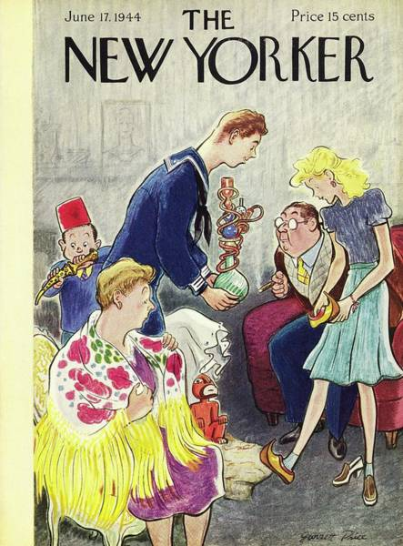 Gifts Painting - New Yorker Magazine Cover Of A Sailor Giving by Garrett Price