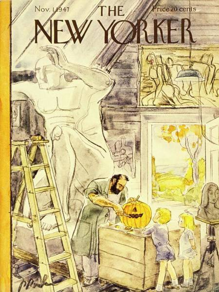 Wall Art - Painting - New Yorker November 1, 1947 by Perry Barlow