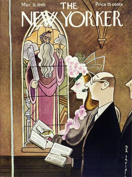 Formal Wear Painting - New Yorker Magazine Cover Of A Woman Using by Rea Irvin