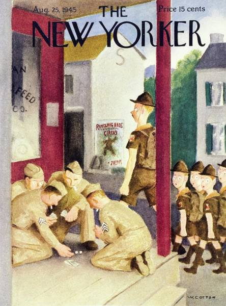 Wall Art - Painting - New Yorker August 25 1945 by William Cotton