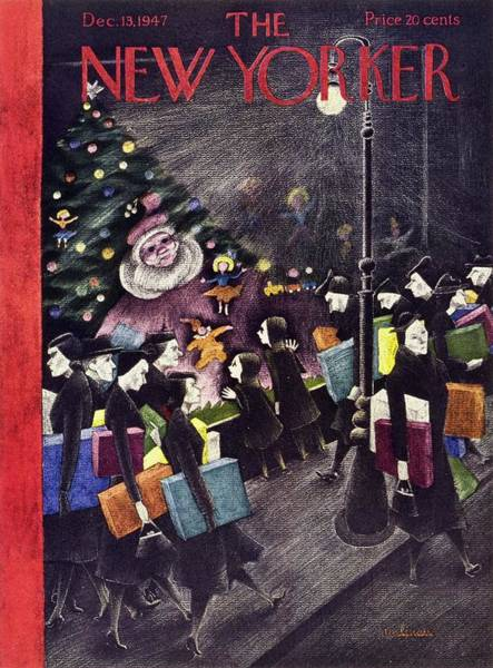 Wall Art - Painting - New Yorker December 13, 1947 by Christina Malman