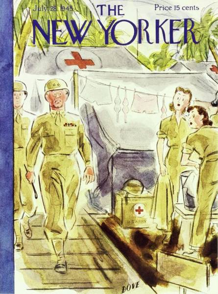 Wall Art - Painting - New Yorker July 28 1945 by Leonard Dove