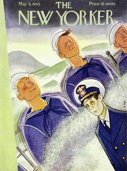 Problems Painting - New Yorker Magazine Cover Of Seasick Sailors by Rea Irvin