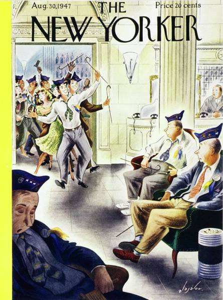 Wall Art - Painting - New Yorker August 30, 1947 by Constantin Alajalov