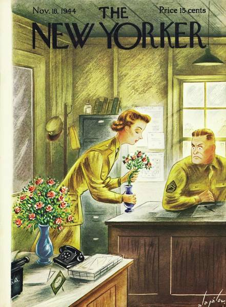Wall Art - Painting - New Yorker Magazine Cover Of Woman Putting by Constantin Alajalov