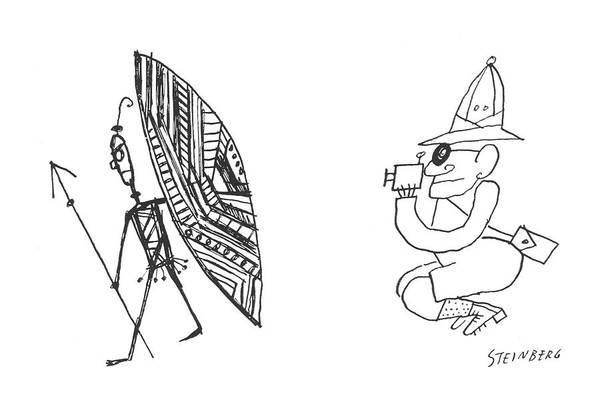 Tribe Drawing - New Yorker March 10th, 1956 by Saul Steinberg