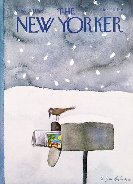 Seasonal Painting - New Yorker March 10th, 1980 by Eugene Mihaesco