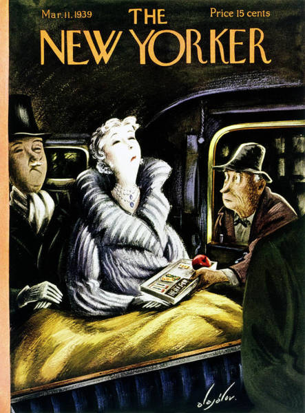Illustration Painting - New Yorker March 11 1939 by Constantin Alajalov