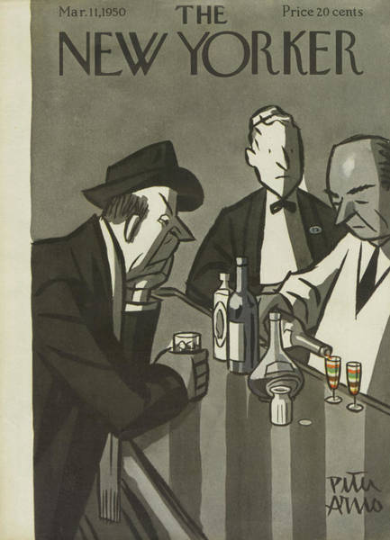 Wine Painting - New Yorker March 11th, 1950 by Peter Arno
