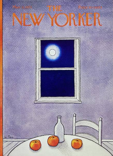 Vegetables Painting - New Yorker March 11th 1972 by Pierre Le-Tan
