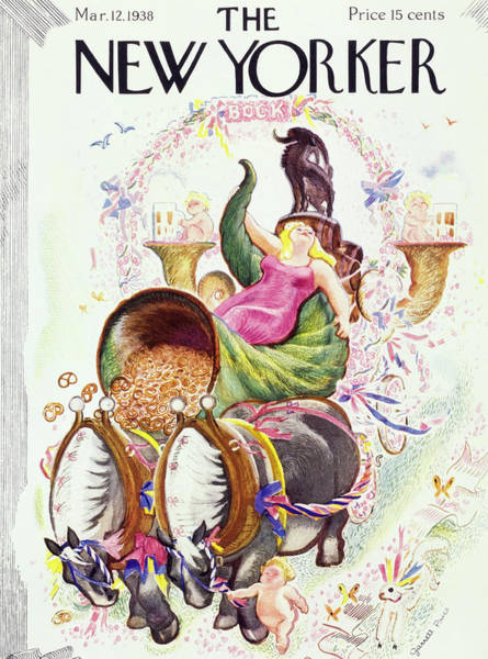 Illustration Painting - New Yorker March 12 1938 by Garrett Price