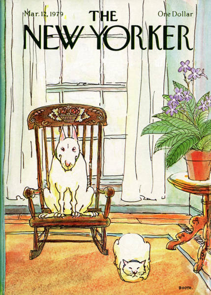 Animal Painting - New Yorker March 12th, 1979 by George Booth