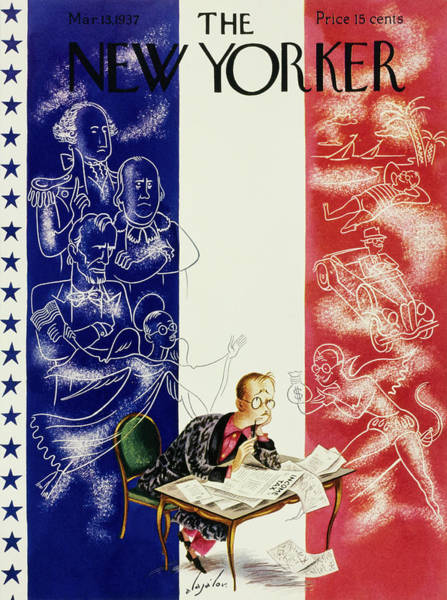 Magazine Cover Painting - New Yorker March 13 1937 by Constantin Alajalov