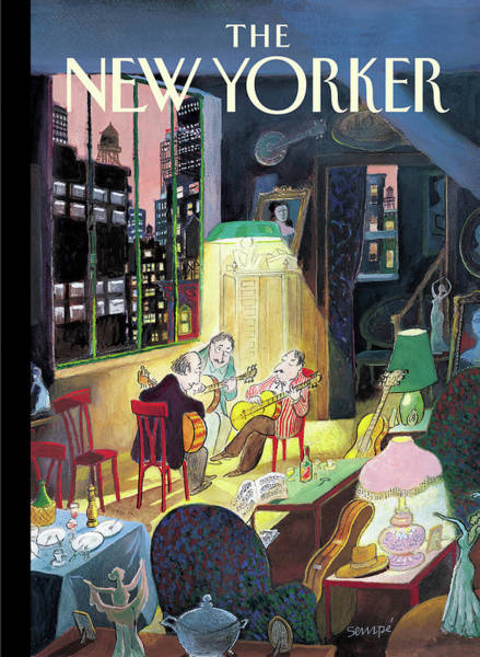 Music Painting - New Yorker March 13th, 2006 by Jean-Jacques Sempe