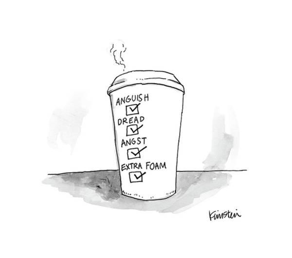 Wall Art - Drawing - New Yorker March 13th, 2017 by Ken Krimstein