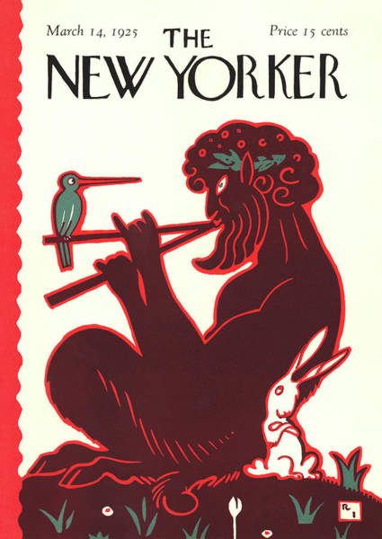Bird Painting - New Yorker March 14th, 1925 by Rea Irvin