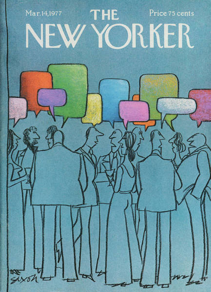 Crowd Painting - New Yorker March 14th, 1977 by Charles Saxon
