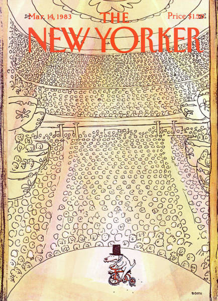 Entertainment Painting - New Yorker March 14th, 1983 by George Booth