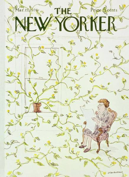 1976 Painting - New Yorker March 15th 1976 by James Stevenson