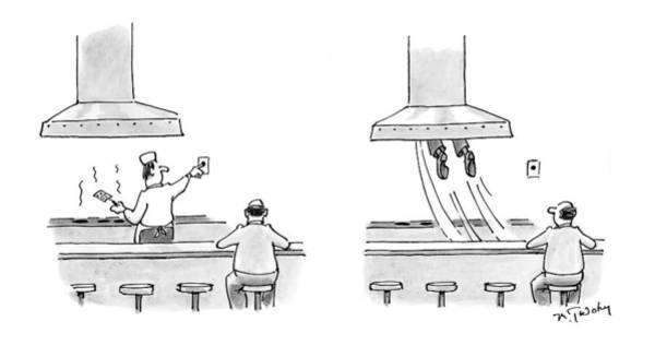 Cook Drawing - New Yorker March 15th, 1999 by Mike Twohy