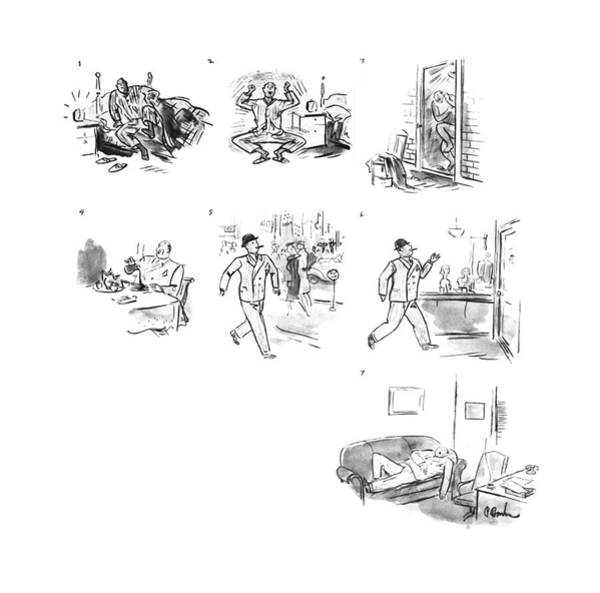 Chairman Of The Board Drawing - New Yorker March 16th, 1940 by Perry Barlow