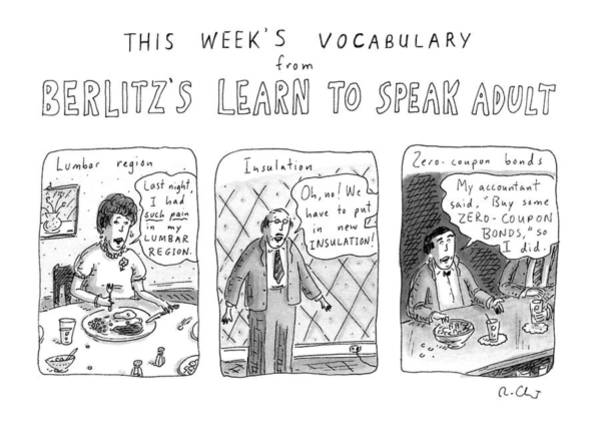 Adult Drawing - New Yorker March 16th, 1992 by Roz Chast