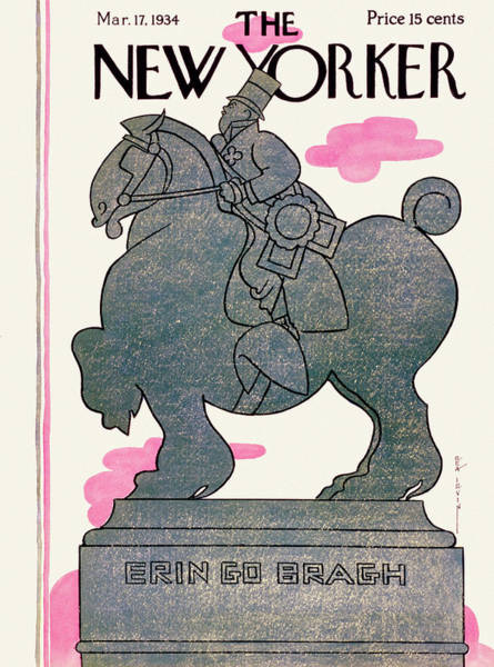 Riding Painting - New Yorker March 17 1934 by Rea Irvin